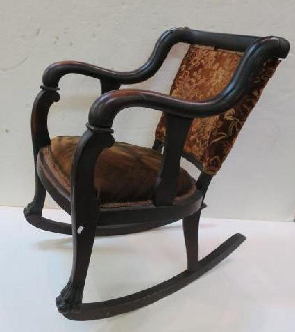 Empire Rocking Chair with Scrolling Arms, Paw Feet: