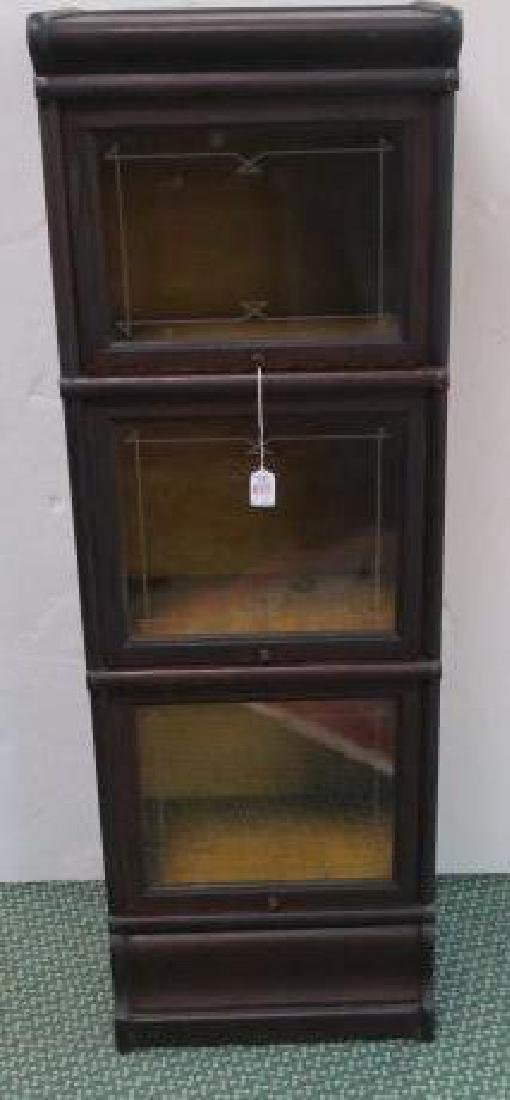 Narrow MASEY Three Sectional or Barrister Bookcase: