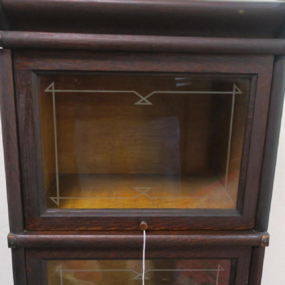 Narrow MASEY Three Sectional or Barrister Bookcase: - 2