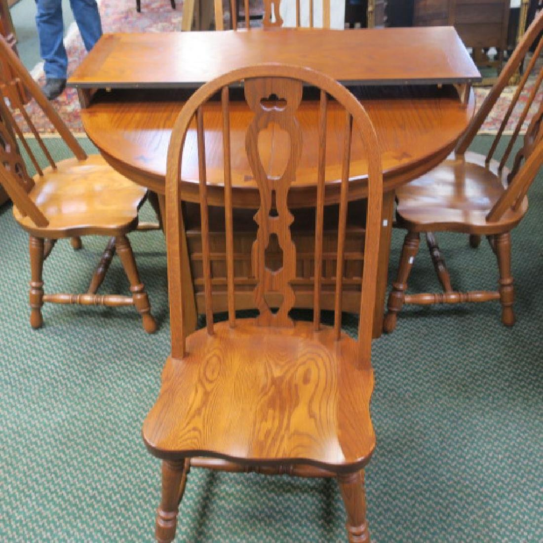 Richardson Brothers Oak Dining Table And 4 Chairs Sep 17 2017 Phoebus Auction Gallery In Va