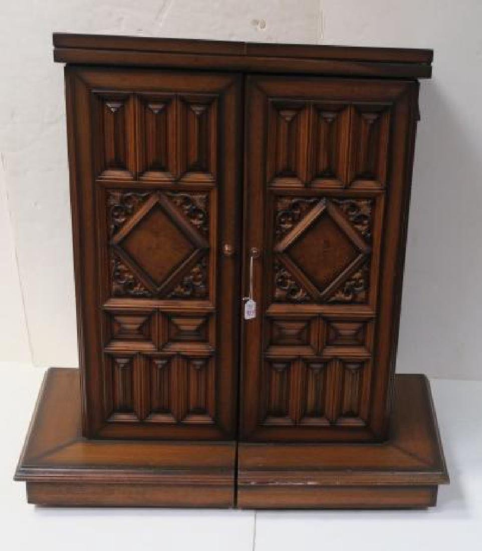 Tudor Style Bar with Fold Out Top, Hinged Sides:
