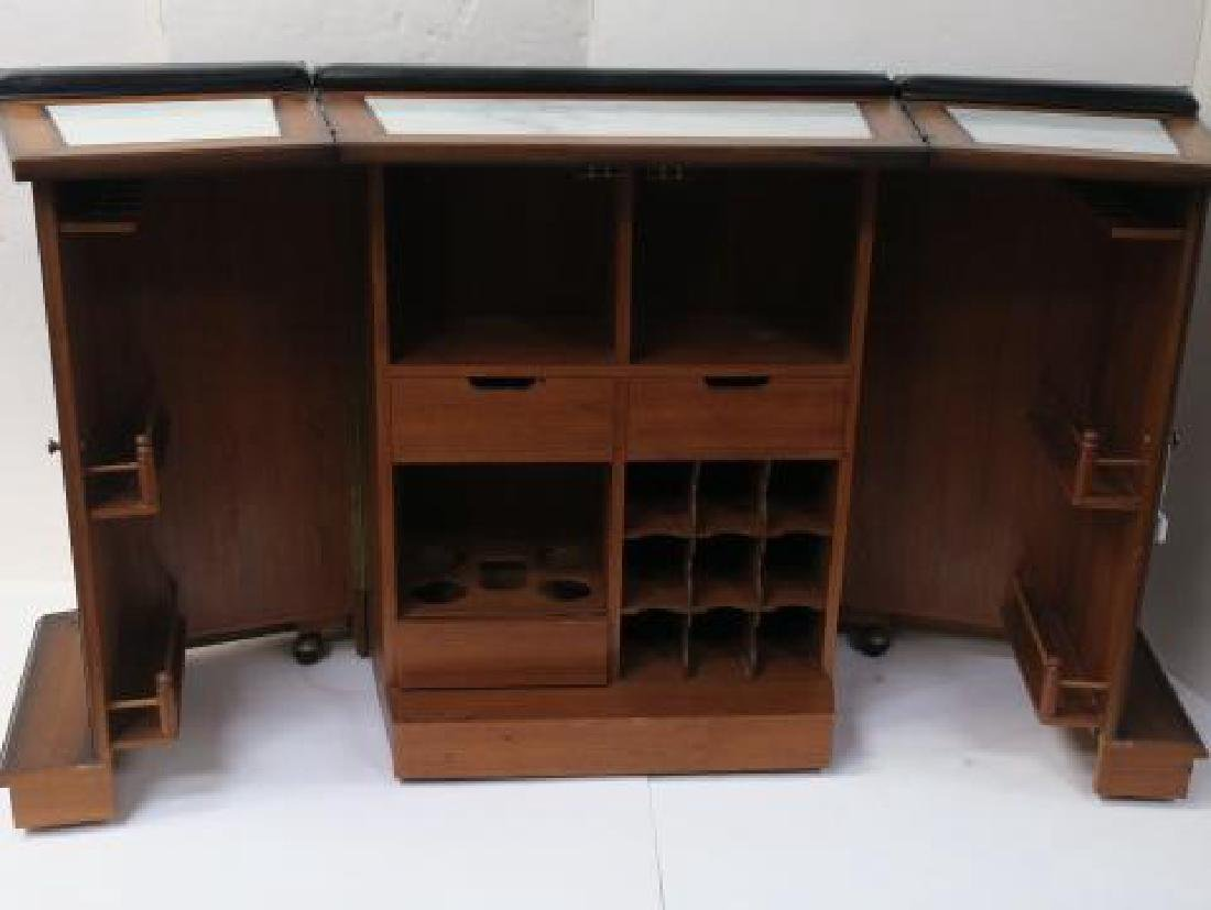 Tudor Style Bar with Fold Out Top, Hinged Sides: - 3