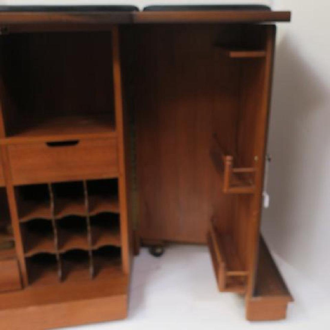 Tudor Style Bar with Fold Out Top, Hinged Sides: - 5