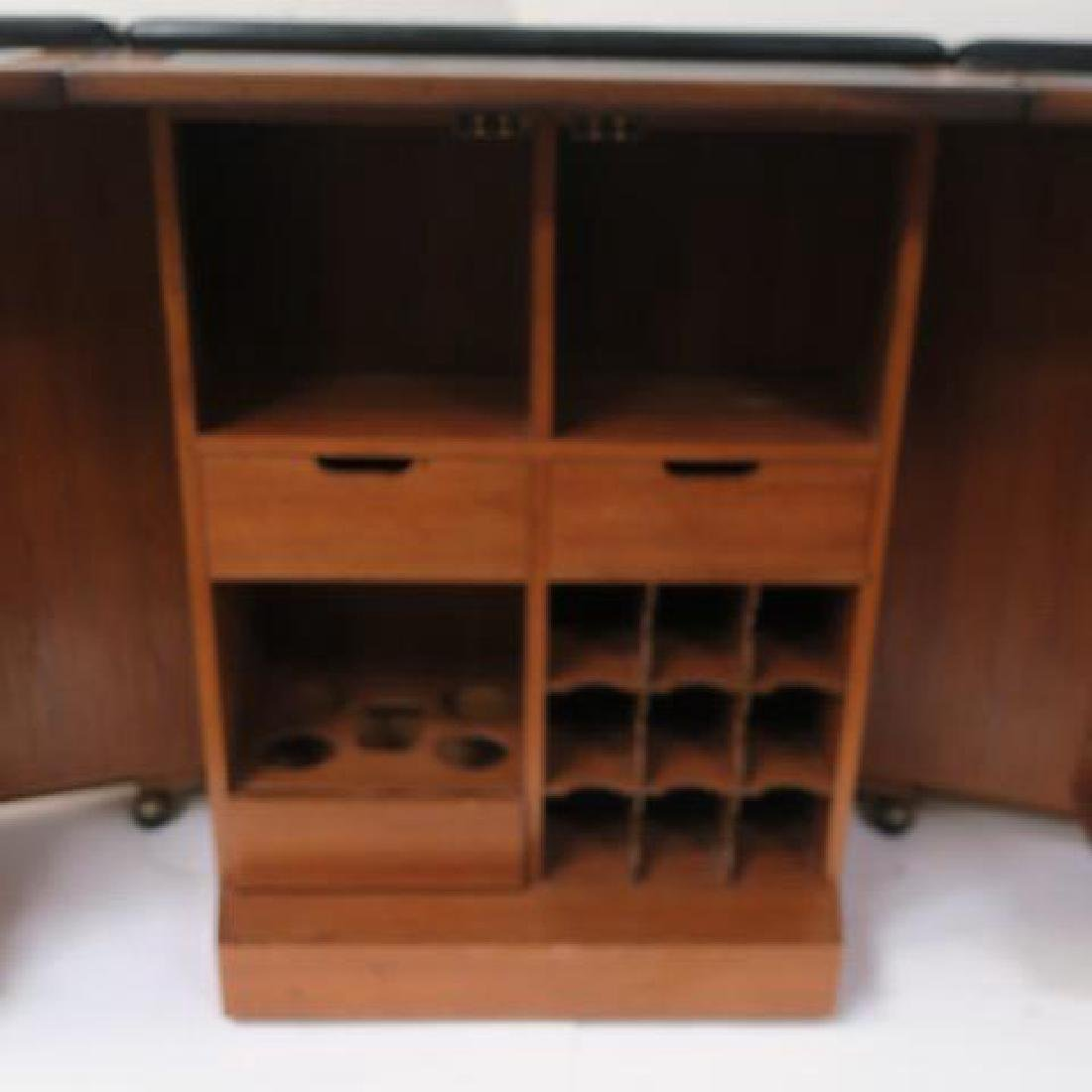 Tudor Style Bar with Fold Out Top, Hinged Sides: - 6