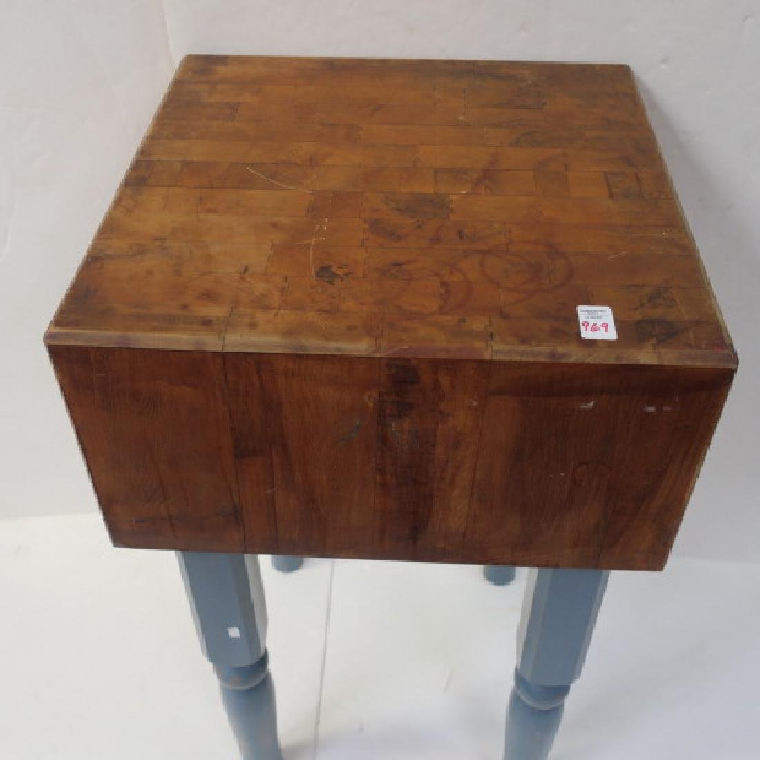 Very Clean Butcher's Block Table: - 2