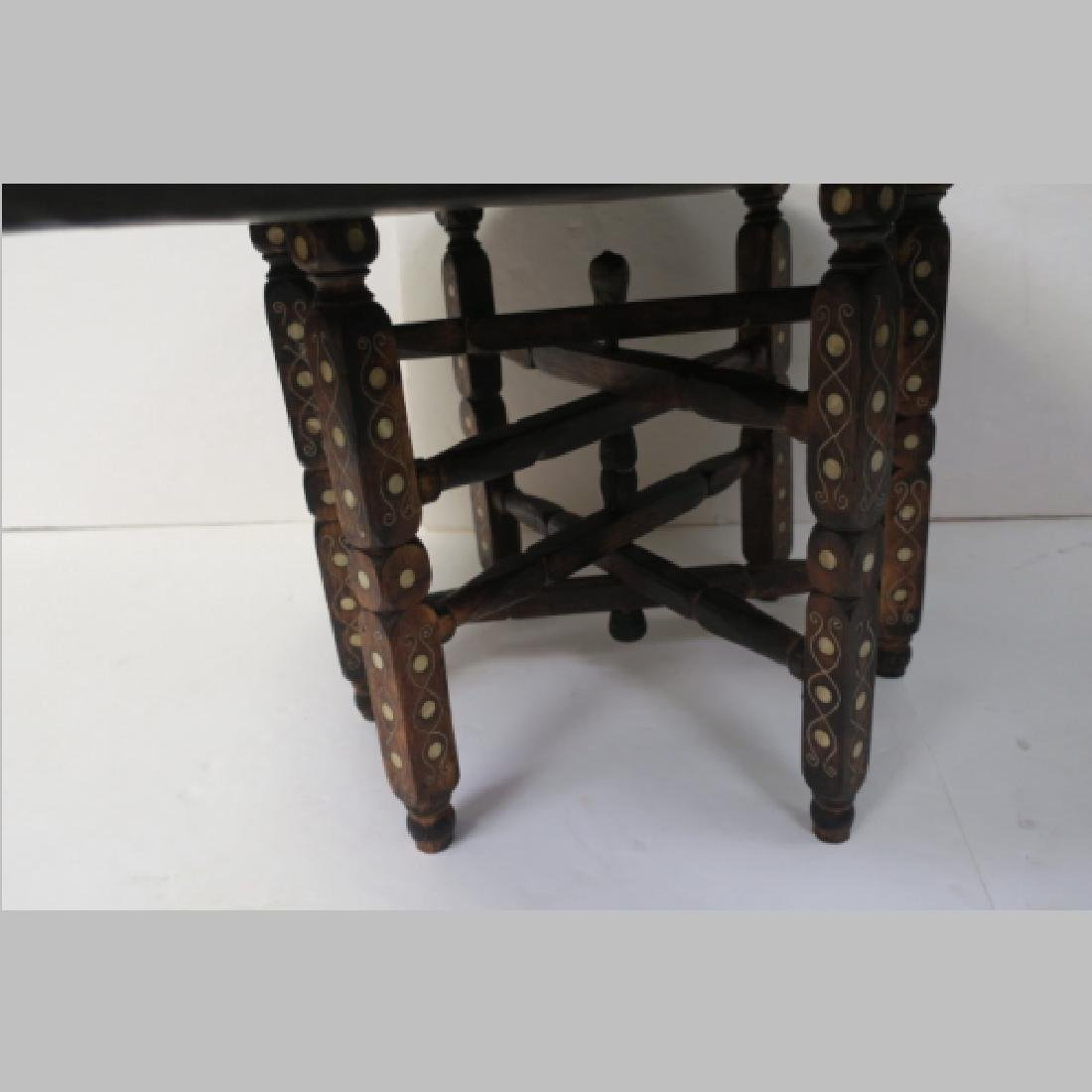 Round Metal East Asian Table with Folding Legs: - 3