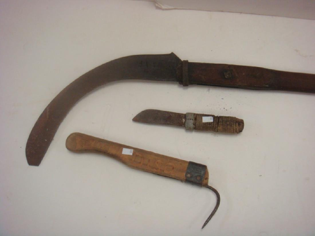 Early American Whaling Tools Incl Flensing Knife: