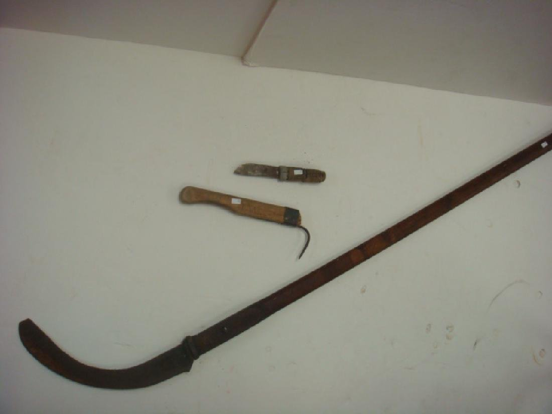 Early American Whaling Tools Incl Flensing Knife: - 3