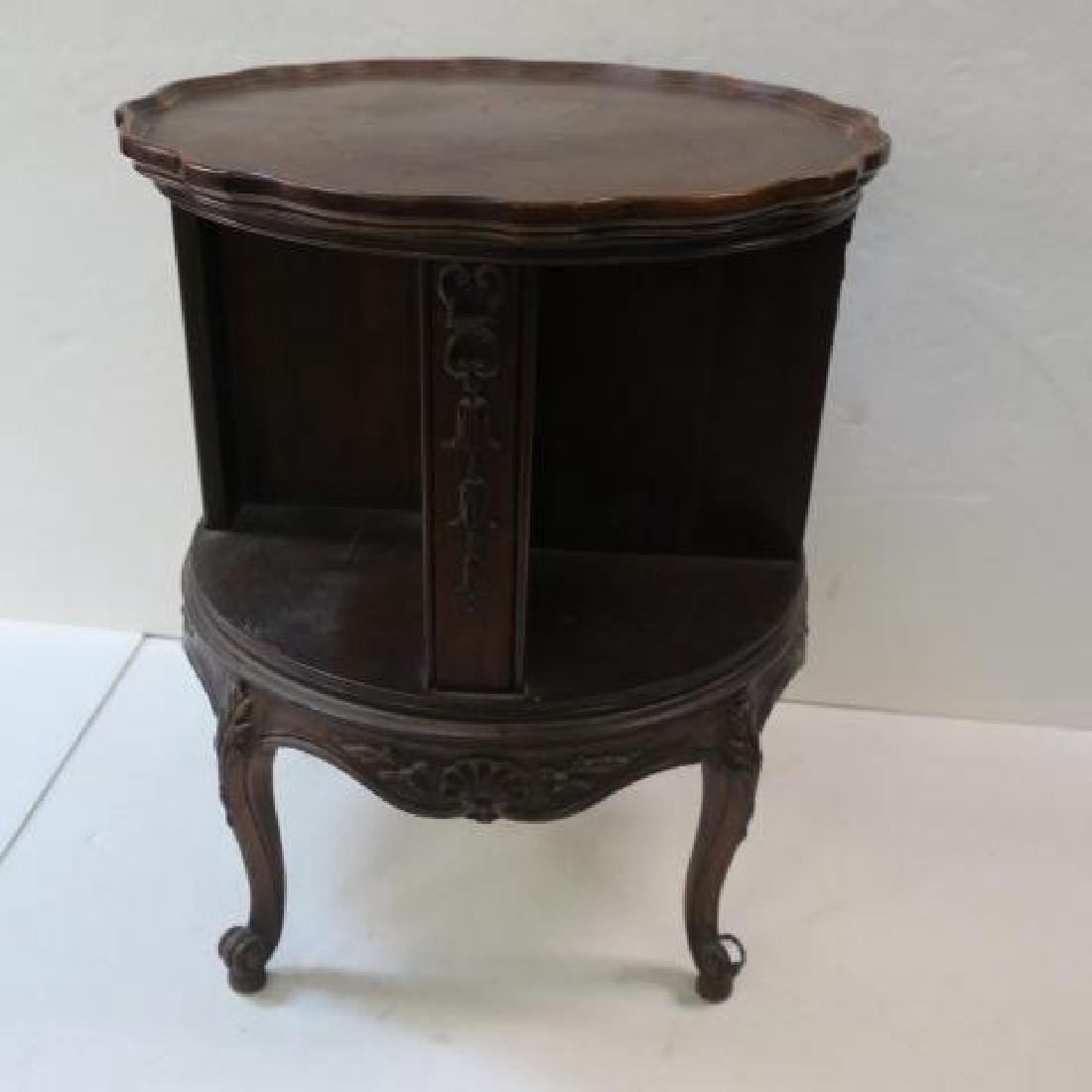 Mahogany Classic Drum Style Revolving Bookcase: