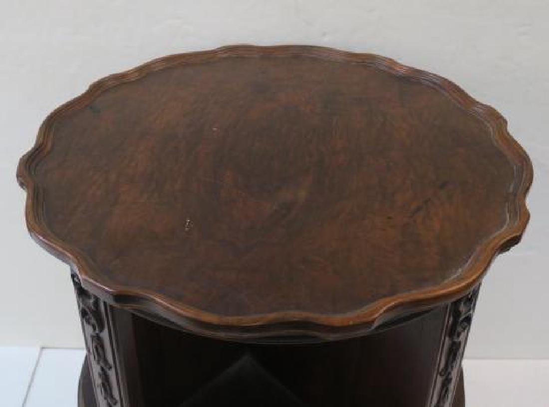 Mahogany Classic Drum Style Revolving Bookcase: - 2