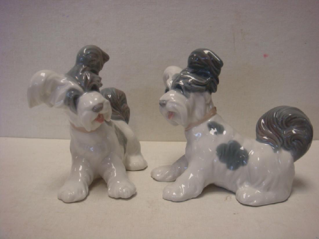 Pair of LLADRO Skye Terrier Figurines: