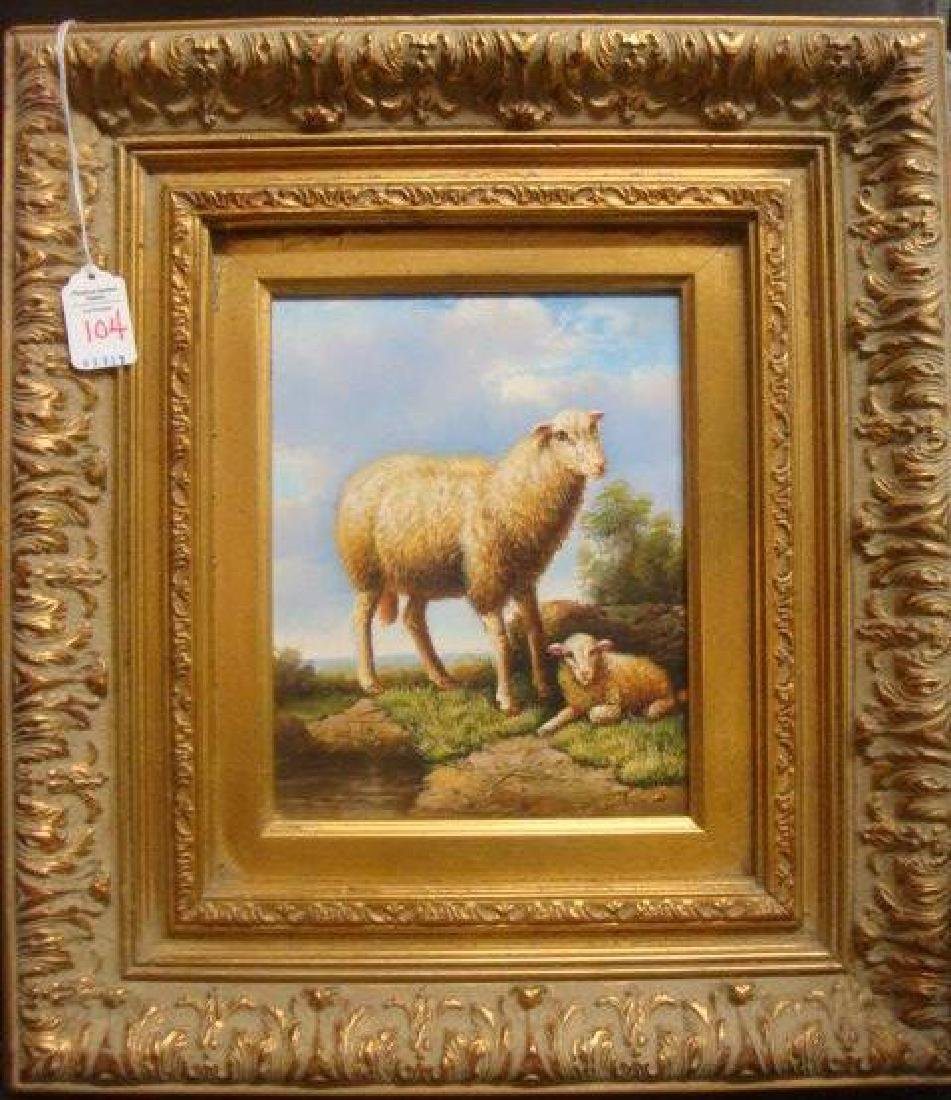 Landscape with Sheep Oil on Canvas: