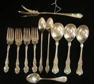 Eleven Pieces Assorted Sterling Silver Flatware:
