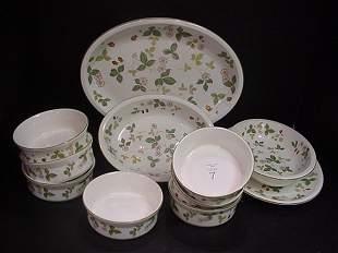 7: Wedgwood Wild Strawberry Platters, Bowl & Ramekins: