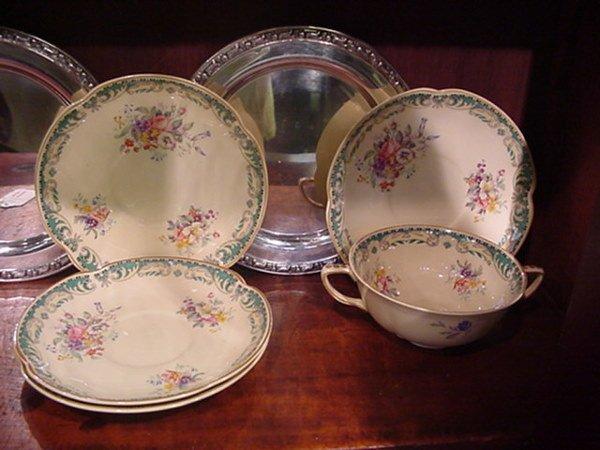11: Johnson Bros. Victorian China and Oneida Plates: