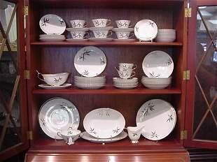 14: Set of Silver Bamboo Motif Japanese Seyei China: