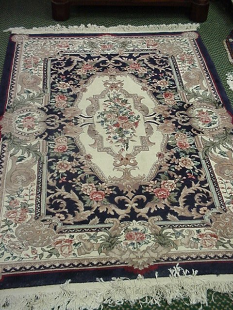16: Chinese Savonnerie 100% Wool Pile Rug: