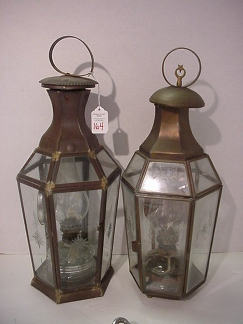 164: Pair of Brass Turkish Lanterns: