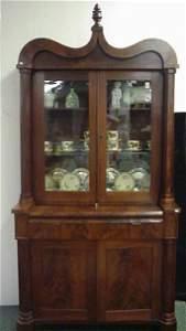 235: American Federal Mahogany Bookcase Desk: