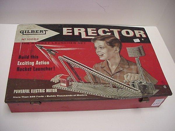 652: A C Gilbert Rocket Launcher Erector Set: