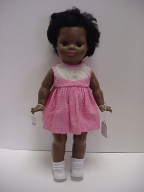 654: Beatrice Wright Hard Plastic Black Doll: