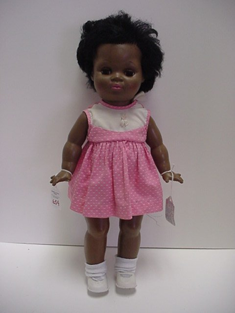 654: Beatrice Wright Hard Plastic Black Doll: