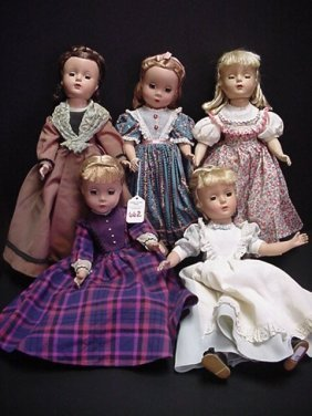 662: 5 Madam Alexander Little Women Dolls: