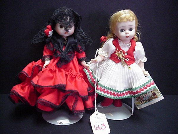 """663: Madame Alexander 7"""" Spain and Hungarian Dolls:"""