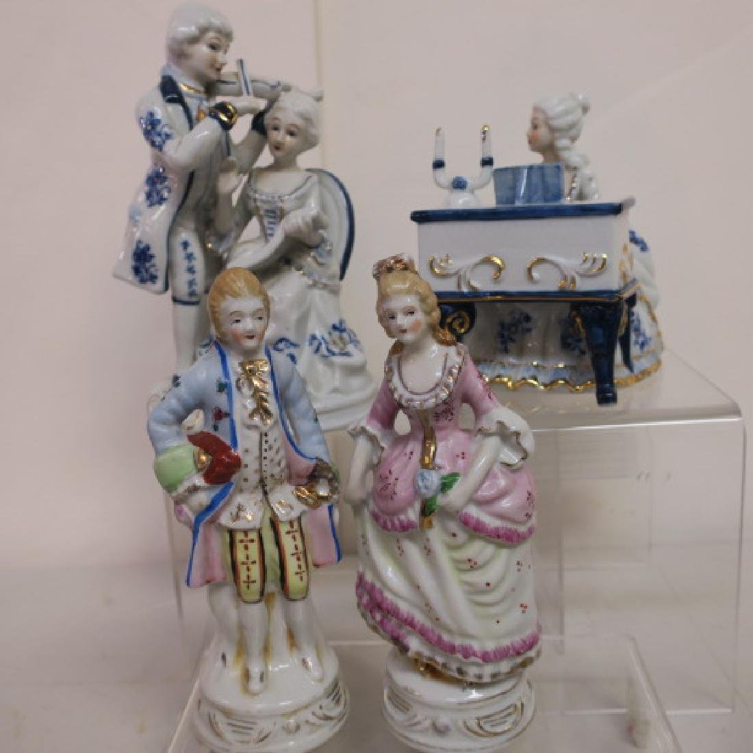 Two Victorian Ceramic Couples: