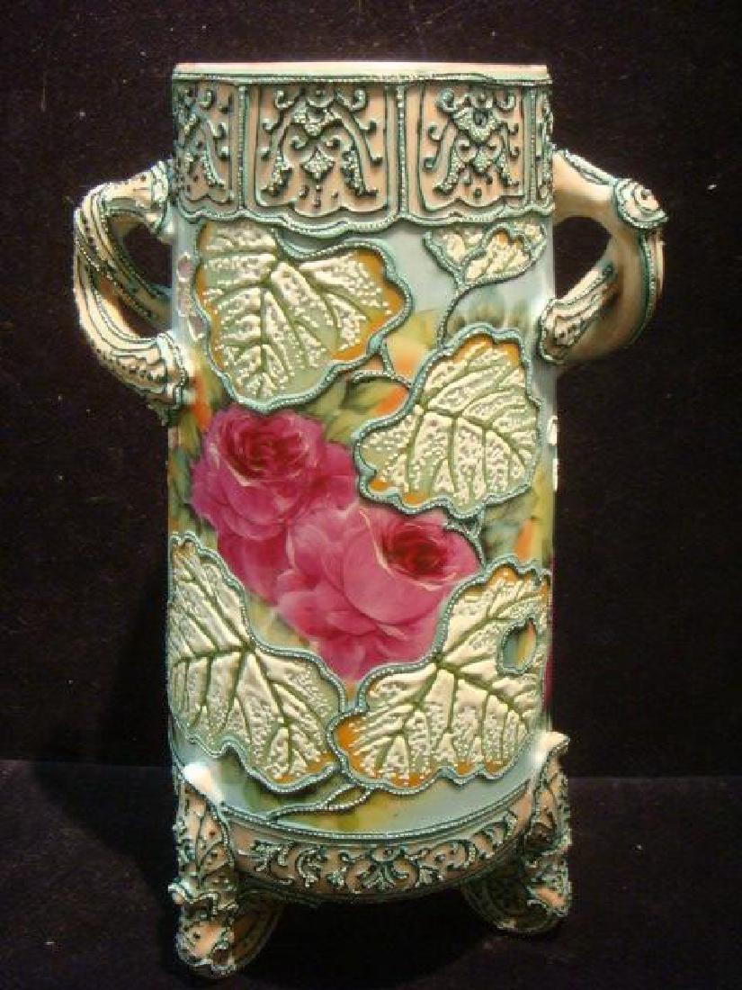 Group of Porcelains, Moriage Plates, Bowl, Vase: