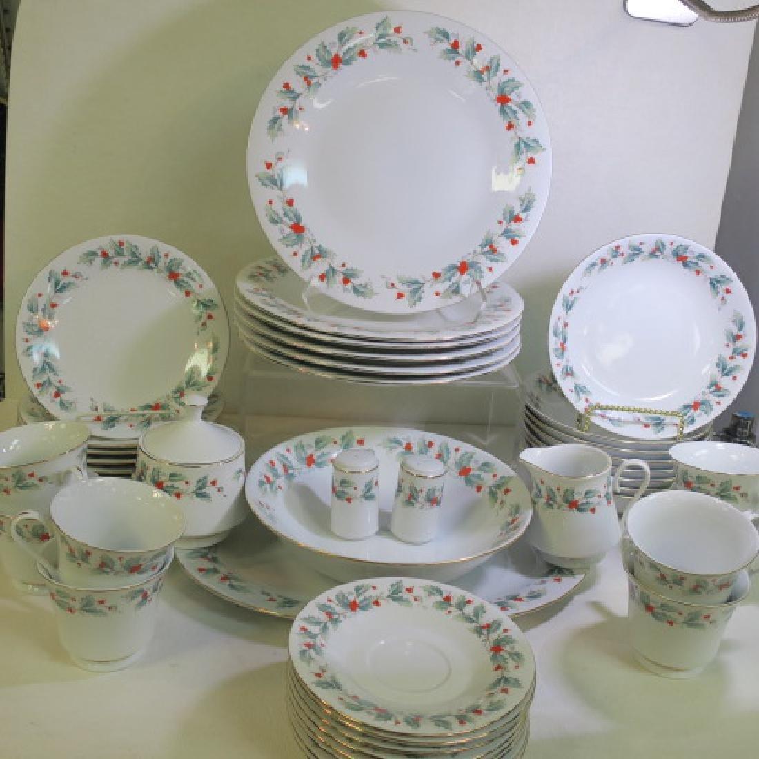 """Set of China Pearl Dinnerware in the """"NOEL"""" Pattern:"""