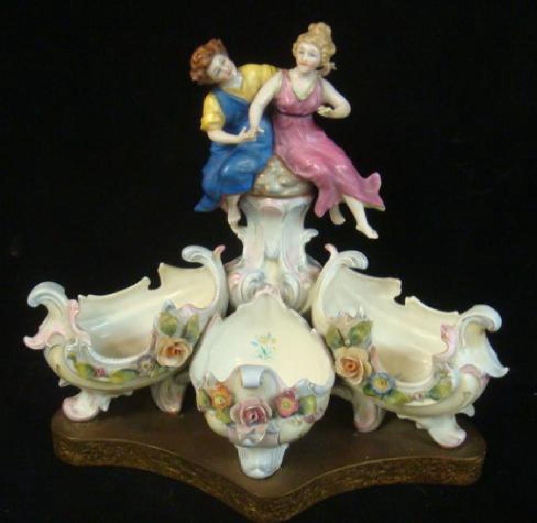Hand painted Porcelain Figurine with Ladies: