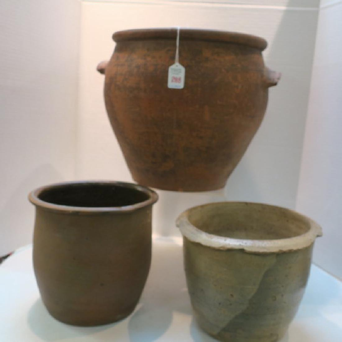 Two Redware and Other Antique Crocks: