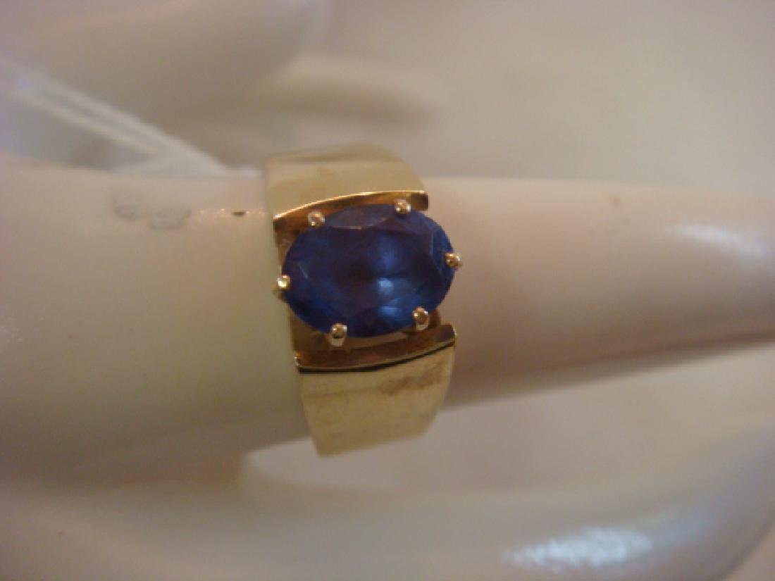 14KT Yellow Gold Tanzanite Ring: