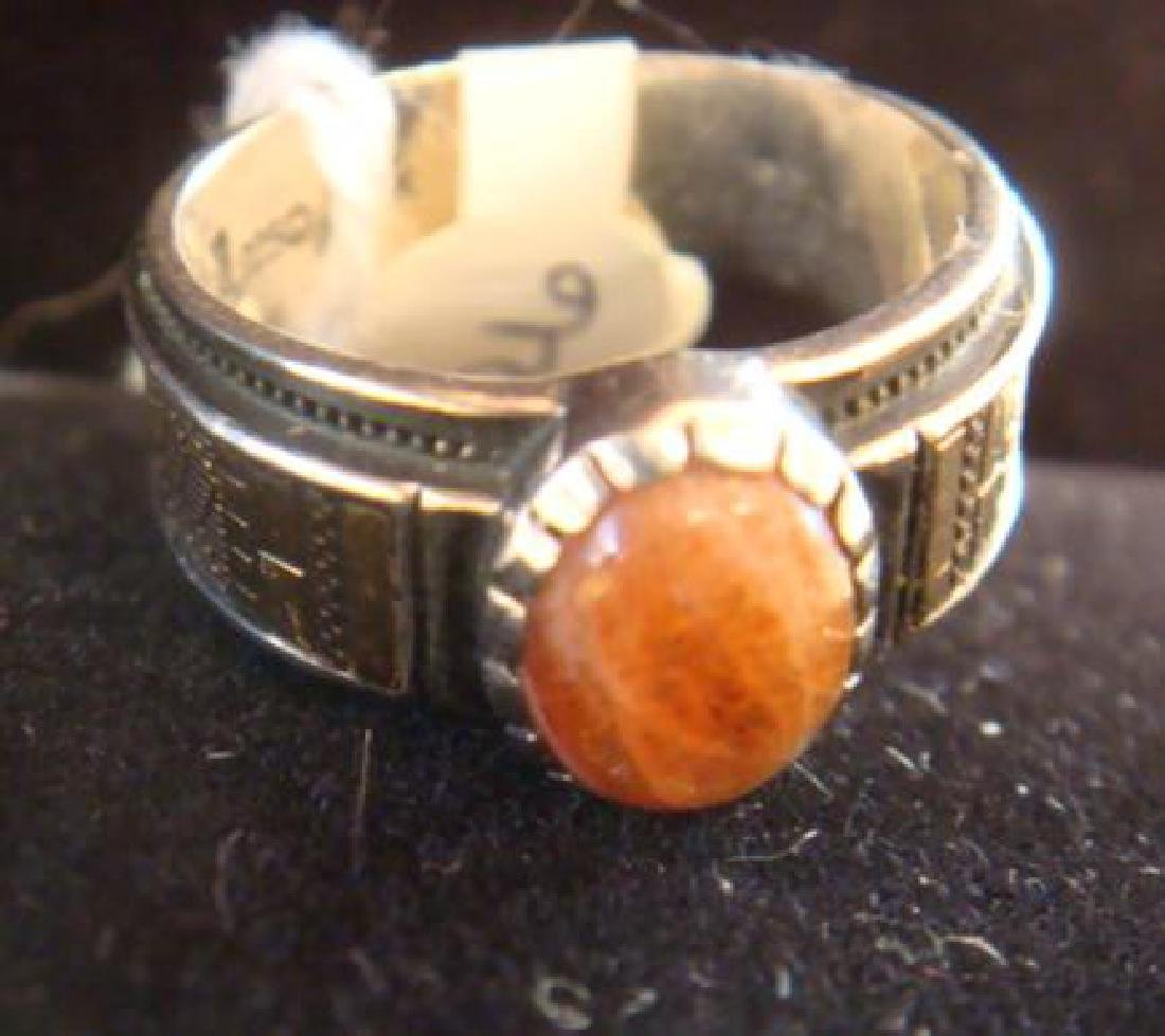 14KT White/Yellow Gold Strawberry Quartz Ring: