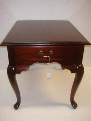 Mahogany Finish Single Drawer Side Table