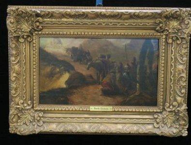 "DAVID TENIERS ""THE PILGRIMAGE"" O/B, 17th Century:"