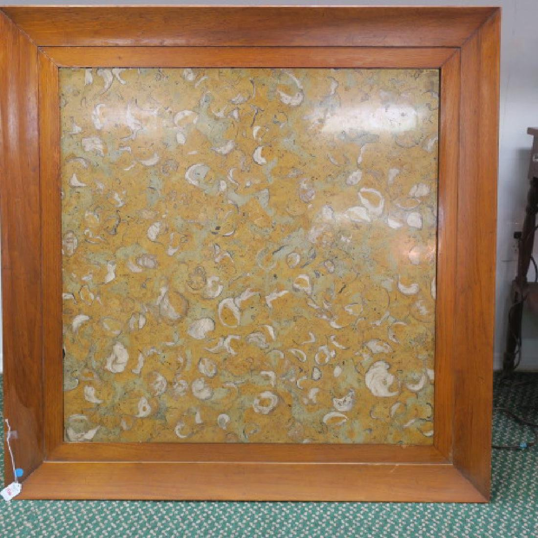 Thomasville Table with Sienna Marble & Oysters: