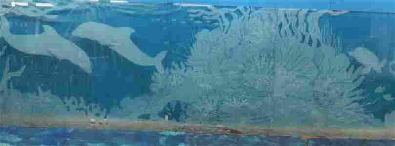 SHARON ROADCAP QUINLIVAN Etched Water Glass Mural