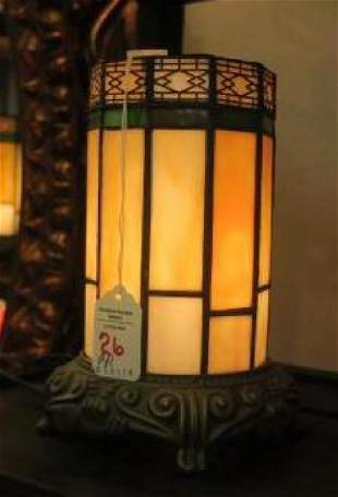Pair of Stained Glass Ornamental Lights