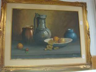 Still Life with Fruit Signed A LISI