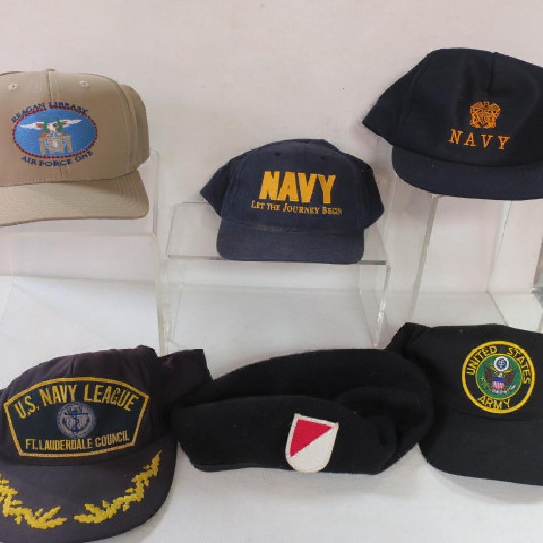 a3cca43bbca06 Source https   www.liveauctioneers.com item 59085122 six-us-navy-and-army- ball-caps-end-of-collection