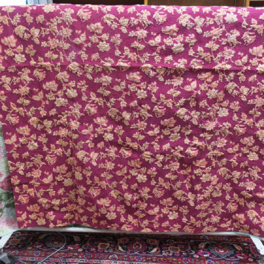 Handstitched Quilt; Red Roses Theme:
