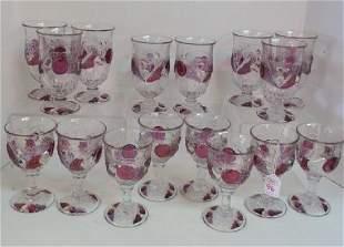 Sixteen WESTMORELAND Della Robbia Ice Teas Goblets