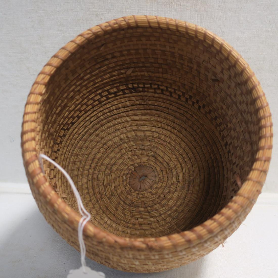 Handmade Natural Woven Coil Basket: - 3
