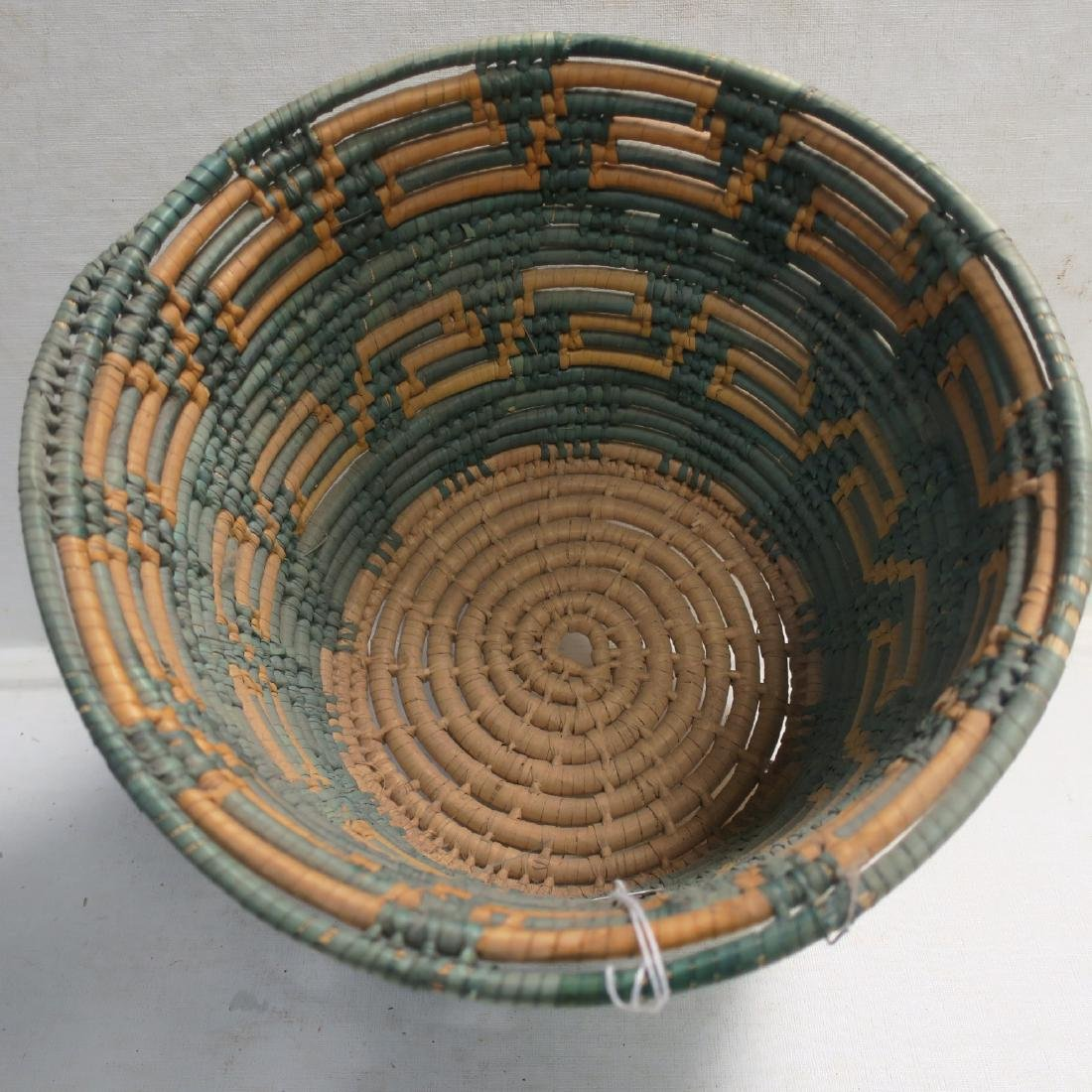 Traditional hand Made Open Coil Basket:
