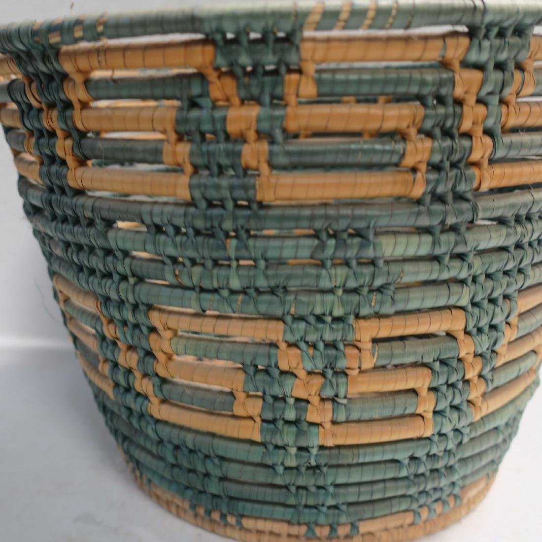 Traditional hand Made Open Coil Basket: - 3