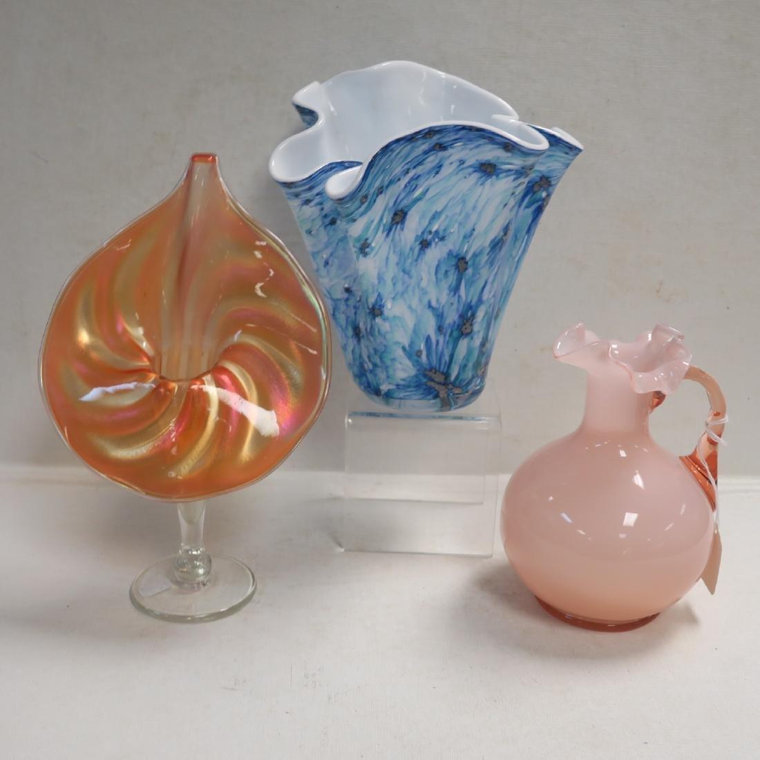 Jack in the Pulpit, Ruffle Pitcher, Handkerchief Vase: