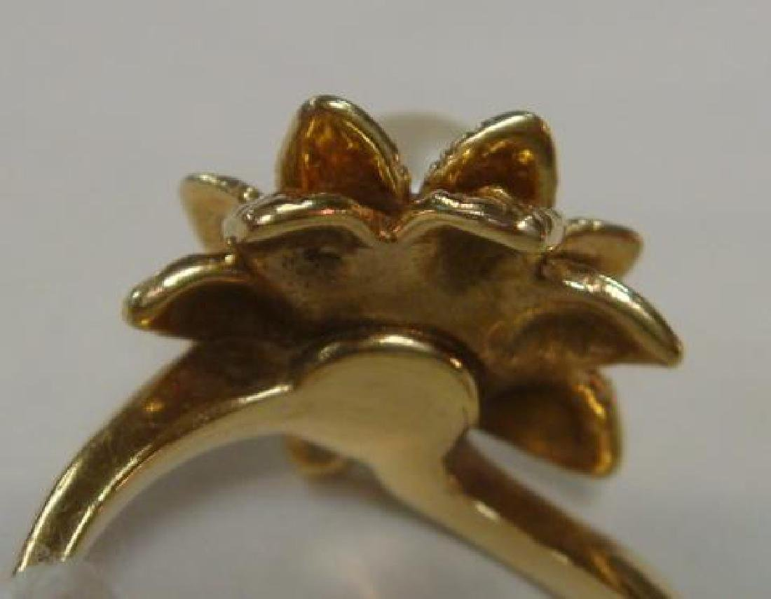 14KT Yellow Gold Pearl Ring: - 3