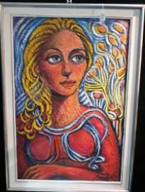 Portrait of Female, Oil on Canvas, S/RENATA KEEP: